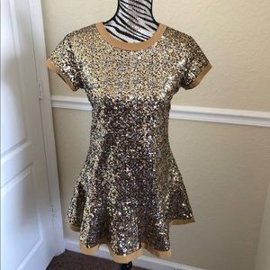 American Girl Sequin Party Dress Gold